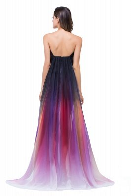 ELISABETH   A-line Floor-length Strapless Tulle Prom Dresses with Sash_3