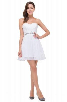 Short Sweetheart Chiffon White Sexy Crystal Homecoming Dress UK_1