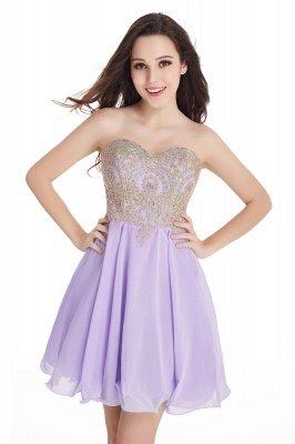 Sexy Short Mini Sweetheart Appliques Homecoming Dress UKes UK_4