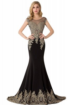 ABIGAIL | Mermaid Court Train Chiffon Evening Dress with Appliques_6