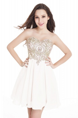 Sexy Short Mini Sweetheart Appliques Homecoming Dress UKes UK_1