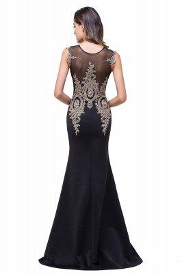 ADDISYN | Mermaid Floor-length Chiffon Evening Dress with Appliques_12