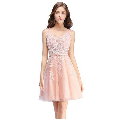 Beautiful Sleeveless lace-up Short homecoming Dress UK Lace Appliques Tulle BA3782_1