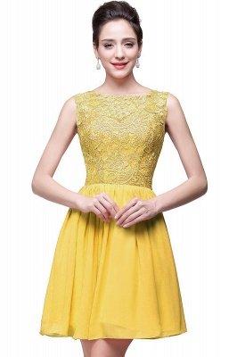 Lovely Illusion Sleeveless Chiffon Short Cocktail Dress UK With Lace_2