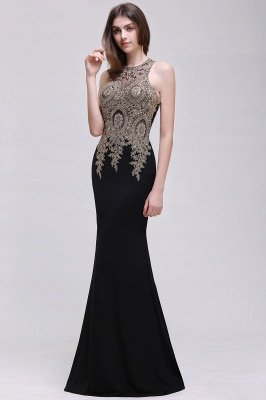 BROOKLYNN | Mermaid Black Prom Dresses with Lace Appliques_8