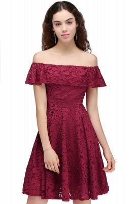 Sheath Burgundy Lace Short Off-the-Shoulder Homecoming Dress UKes UK_1