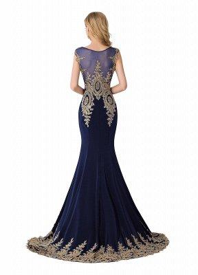 ABIGAIL | Mermaid Court Train Chiffon Evening Dress with Appliques_4