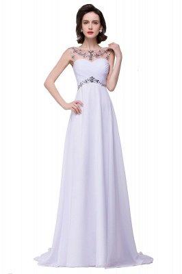 Royal Blue A-Line Chiffon Prom Dress UKes UK Ruffles Floor Length Evening Dress UKes UK with Beadings_1
