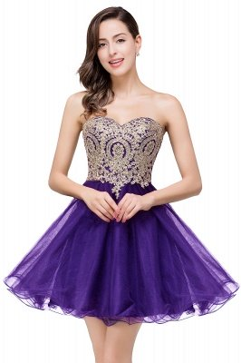 Gabriela   A Line Lace Appliques Sweetheart Short Prom Dresses_2