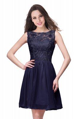 Lovely Illusion Sleeveless Chiffon Short Cocktail Dress UK With Lace_6