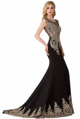 ABIGAIL | Mermaid Court Train Chiffon Evening Dress with Appliques_9