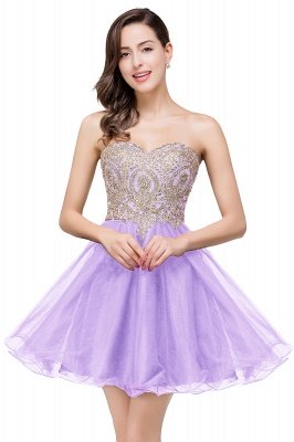 Gabriela   A Line Lace Appliques Sweetheart Short Prom Dresses_3