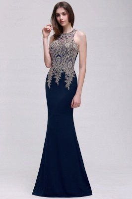 BROOKLYNN | Mermaid Black Prom Dresses with Lace Appliques_3