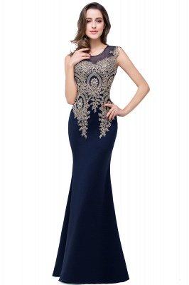 ADDISYN | Mermaid Floor-length Chiffon Evening Dress with Appliques_5