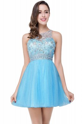 Sexy Beadings Crystal Short Prom Dress UK Chiffon Homecoming Gown_4