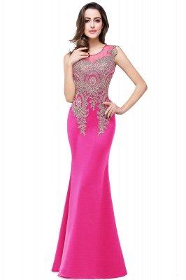 ADDISYN | Mermaid Floor-length Chiffon Evening Dress with Appliques_3