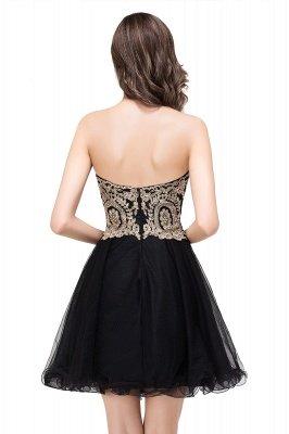 Gabriela   A Line Lace Appliques Sweetheart Short Prom Dresses_9