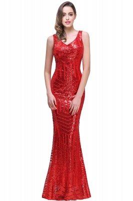 Sleeveless Newest Long Jewel Sequin Mermaid Prom Dress UK_1