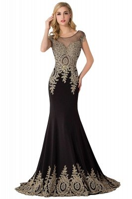 ABIGAIL | Mermaid Court Train Chiffon Evening Dress with Appliques_5