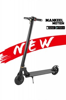 Germany Stock Manke Electric Scooter 250w Black Foldable Lightweight Adult Electric Bike