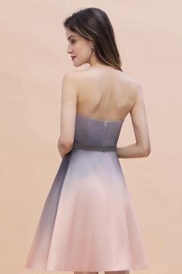 Gradient Sleveless A-lin Mini Dress Elegant Strapless short Evening Homecoming Dress_8