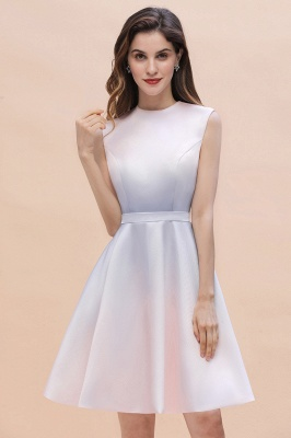 Gradient Mini Daily Wear Dress Crew Neck Sleeveless A-line Evening Party Dress_4