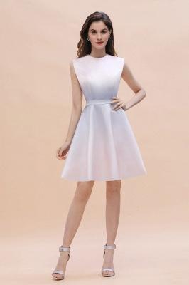Gradient Mini Daily Wear Dress Crew Neck Sleeveless A-line Evening Party Dress