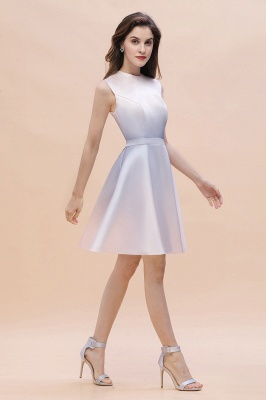 Gradient Mini Daily Wear Dress Crew Neck Sleeveless A-line Evening Party Dress_3