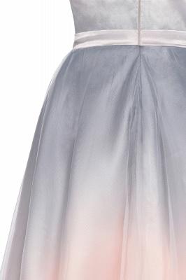 Elegant Gradient V-Neck Gray Mini Dress Tea Length party daily to life Dress_13