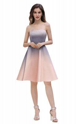 Gradient Sleveless A-lin Mini Dress Elegant Strapless short Evening Homecoming Dress_4
