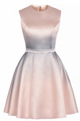 Gradient Mini Daily Wear Dress Crew Neck Sleeveless A-line Evening Party Dress_10
