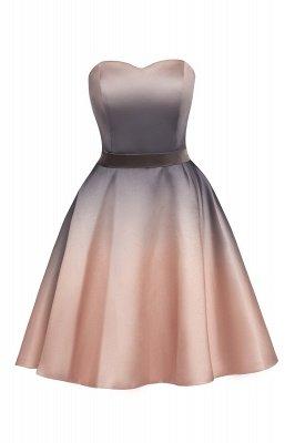 Gradient Sleveless A-lin Mini Dress Elegant Strapless short Evening Homecoming Dress_12