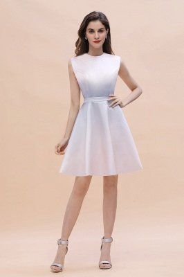 Gradient Mini Daily Wear Dress Crew Neck Sleeveless A-line Evening Party Dress_1