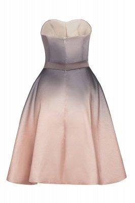 Gradient Sleveless A-lin Mini Dress Elegant Strapless short Evening Homecoming Dress_13