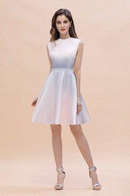Gradient Mini Daily Wear Dress Crew Neck Sleeveless A-line Evening Party Dress_2