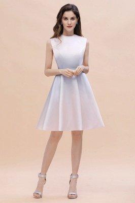 Gradient Mini Daily Wear Dress Crew Neck Sleeveless A-line Evening Party Dress_6