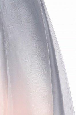 Elegant Gradient V-Neck Gray Mini Dress Tea Length party daily to life Dress_14