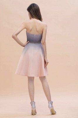Gradient Sleveless A-lin Mini Dress Elegant Strapless short Evening Homecoming Dress_3