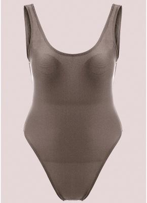 Scoop Neck Sleeveless Backless Monokini Swimwear_7