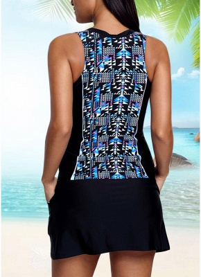 Women Sexy Bikini Set Geometric Print Padded Wireless Swimwear Swimsuits_3