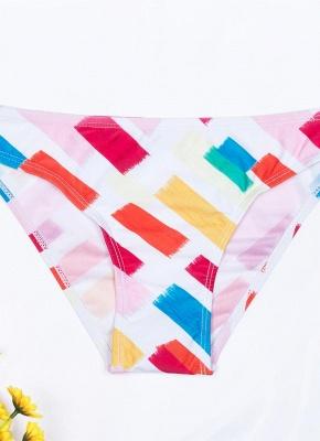 Women Print Sexy Bikini Set Spaghetti Strap Push Up Padded Swimsuit Swimwear Bathing Suit_5