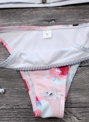Women Sexy Bikini Set Floral Print Striped Splice Strappy Wireless Swimwear Swimsuits Two Piece Beach Wear_4