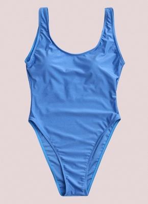 Scoop Neck Sleeveless Backless Monokini Swimwear_5
