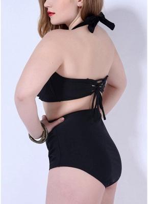 Plus Size Halter Underwire Push Up Sexy Bikini Swimsuit_5