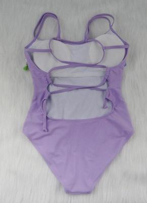 Women One-piece Swimsuit Fringed Tassels Crisscross Bandage Monokini  Swimwear_4