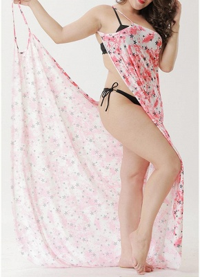 Beach Floral Printed Cover Up Sexy Bikini Cover-up Dress_1