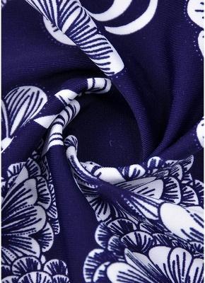 10xl Plus Size Floral Print Spaghetti Strap Summer Swimsuit_9