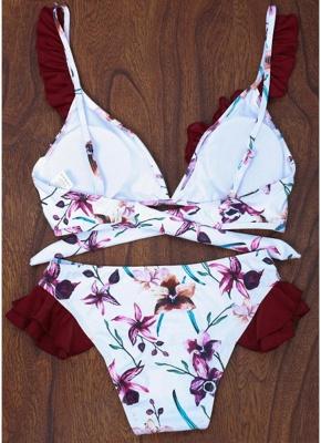 Women Floral Sexy Bikini Set Push Up Padded Bandage Swimsuit  Swimwear_3