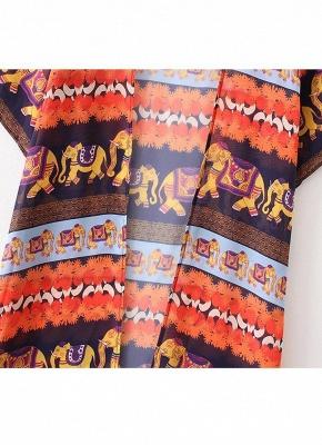 Summer Cardigan Elephant Print Boho Loose Women's Kimono_7