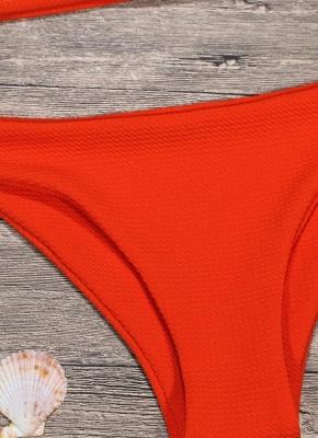 Women Sexy Bikini Set Push Up  Swimsuit Ruffle Low Waisted Padded Two Piece Swimwear Beach Wear_10